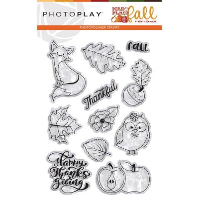PhotoPlay Mad 4 Plaid Fall - Clear Stamps