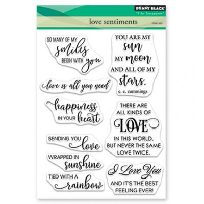 Penny Black Clear Stamps - Love Sentiments