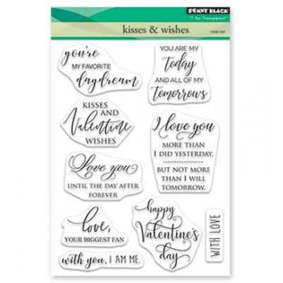 Penny Black Clear Stamps - Kisses And Wishes