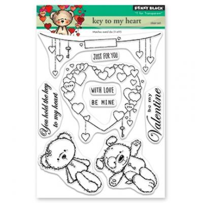 Penny Black Clear Stamps - Key To My Heart