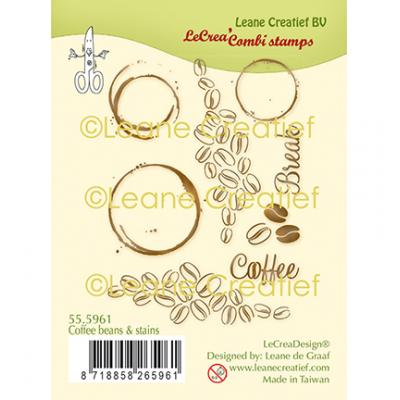 Leane Creatief Clear Stamps - Kaffee