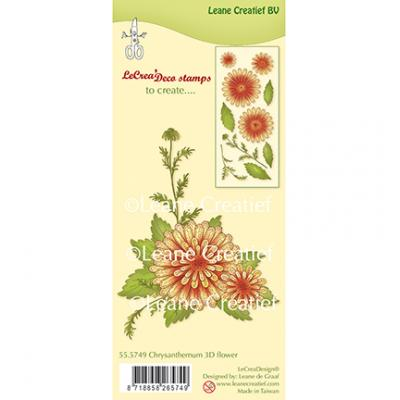 Leane Creatief Clear Stamps - Chrysanthemen