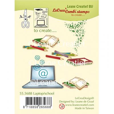 Leane Creatief Clear Stamps - Laptop