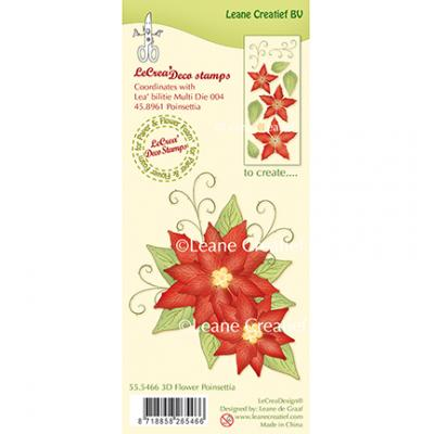 Leane Creatief Clear Stamps - Poinsettia
