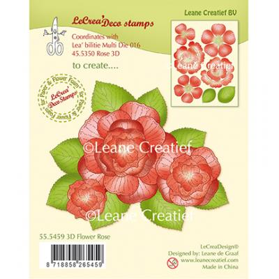 Leane Creatief Clear Stamps - Rose