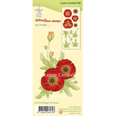 Leane Creatief Clear Stamps - Mohn