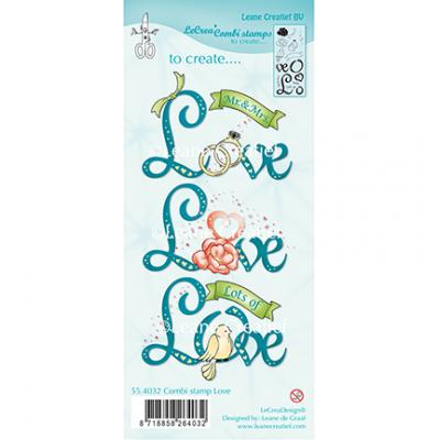 Leane Creatief Clear Stamps - Love