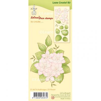 Leane Creatief Clear Stamps - Hydrangea