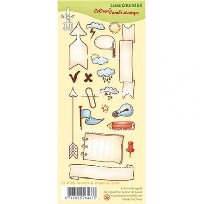 Leane Creatief Clear Stamps - Banner