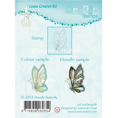 Leane Creatief Clear Stamp - Schmetterling