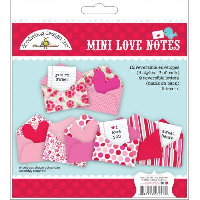 Doodlebugs French Kiss - Mini Love Notes