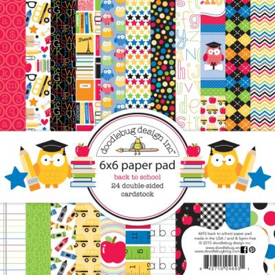 Doodlebugs Back to School - 6x6 Paper Pad