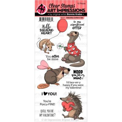 Art Impressions - Clear Stamps - Valentine Critters
