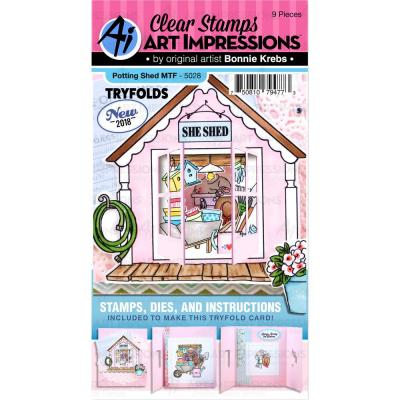 Art Impressions - Clear Stamps - Potting Shed