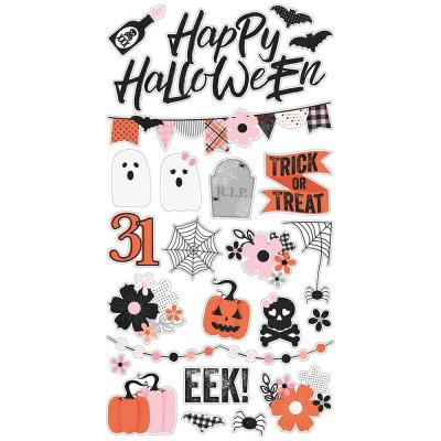 Simple Stories Chipboard Stickers - Happy Haunting