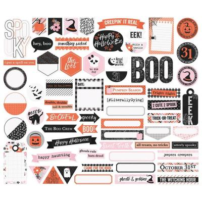 Simple Stories Die-Cuts - Happy Haunting - Tags & Frames