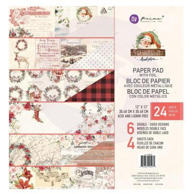 Prima Marketing  Paper Pad - Christmas In The Country