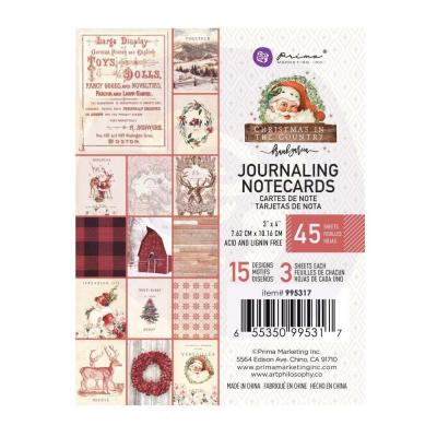 Prima Marketing - Journaling Cards - Christmas In The Country