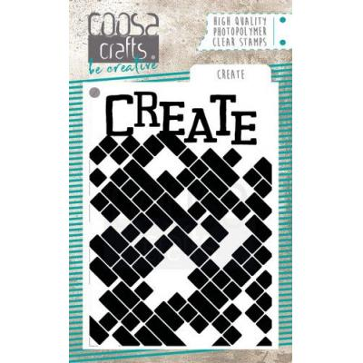 COOSA Crafts Clear Stamp - Create
