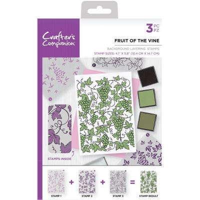 Crafter's Companion Clear Stamps - Fruit of the Vine