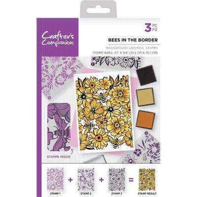 Crafter's Companion Clear Stamps - Bees in the Border