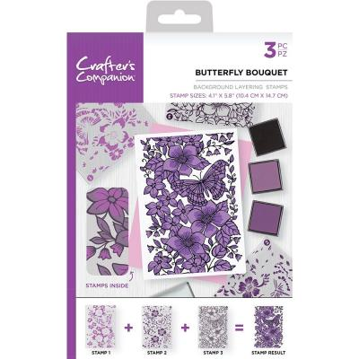 Crafter's Companion Clear Stamps - Butterfly Bouquet