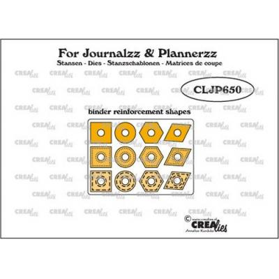 Crealies Stanzschablonen - Journalzz & PI - Binder Reinforcements Shapes