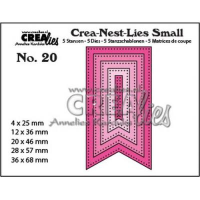 Crealies Stanzschablonen - Small Fishtail Banner - Dots