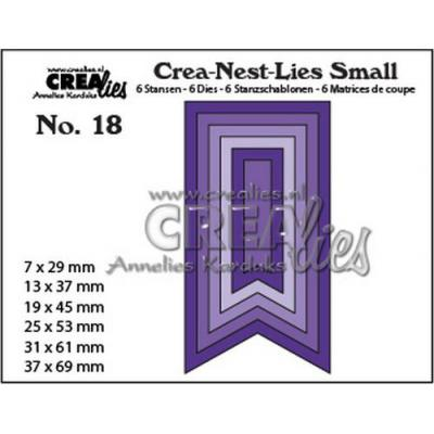 Crealies Stanzschablonen - Small Fishtail Banner glatt