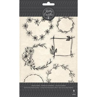 Kelly Creates - Clear Stamps - Floral Wreaths