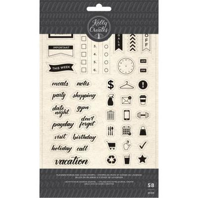 Kelly Creates - Clear Stamps - Planner Words & Icons