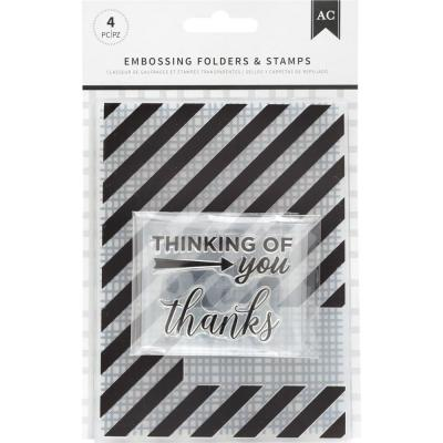 American Crafts - Prägeschablonen - Thankful Thinking