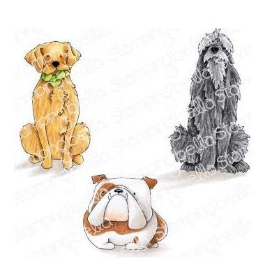 Stamping Bella - Cling Stamps - Golden, Wolfhound & Bulldog