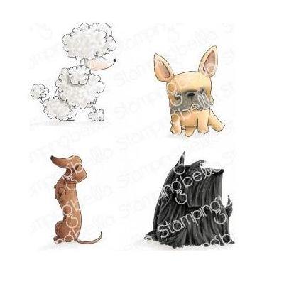 Stamping Bella - Cling Stamps - Frenchie, Scottie, Poodle & Dachsie