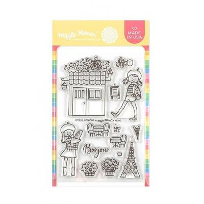 Waffle Flower - Clear Stamps - Bonjour