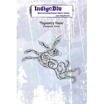 IndigoBlu Rubber Stamp - Tapestry Hase