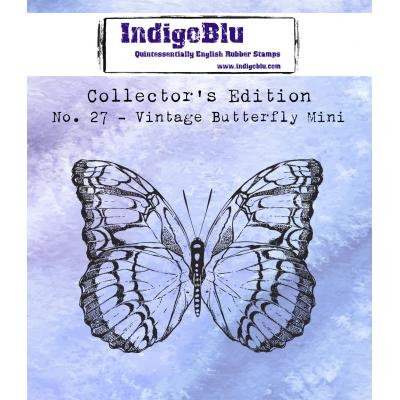 IndigoBlu Rubber Stamp - Vintage Butterfly Mini