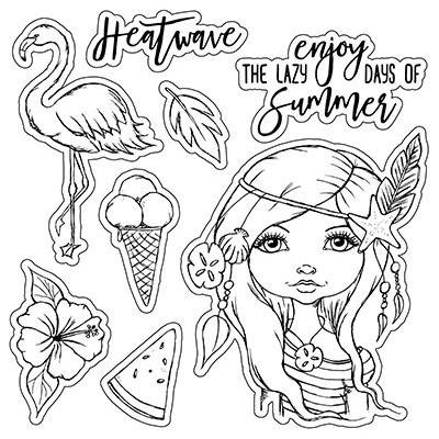 LDRS Creative Clear Stamps - Heatwave
