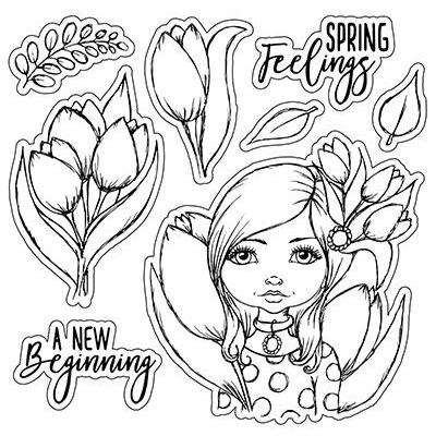 LDRS Creative Clear Stamps - A New Beginning