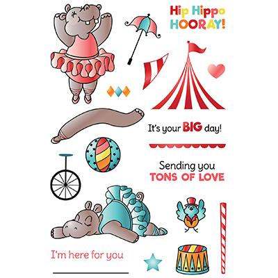 LDRS Creative Clear Stamps - Hippo Hurray!