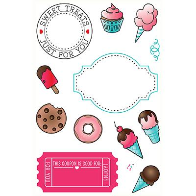 LDRS Creative Clear Stamps - Sweet Treats