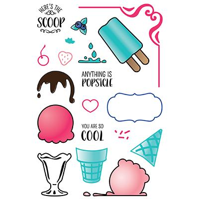 LDRS Creative Clear Stamps - Ice Cream Party