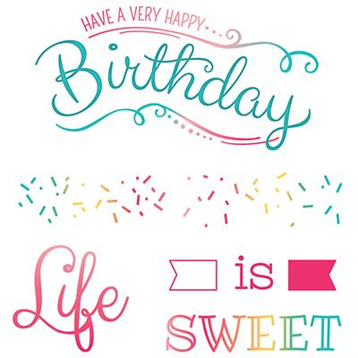 LDRS Creative Clear Stamps - Life is Sweet