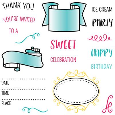 LDRS Creative Clear Stamps - Party Time