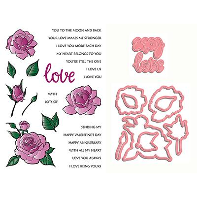 LDRS Creative Clear Stamps - Love and Smell the Roses
