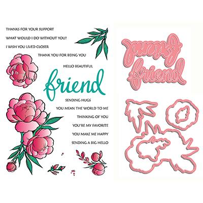 LDRS Creative Clear Stamps - If Friends Were Flowers