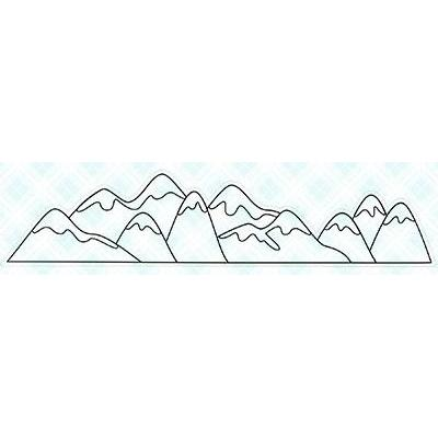 LDRS Creative Clear Stamp - Mountains
