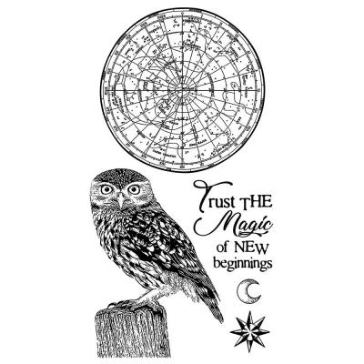 Stamperia Rubber Stamps - Cosmos Owl