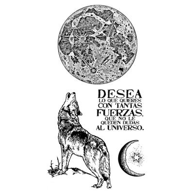 Stamperia Rubber Stamps - Cosmos Wolf