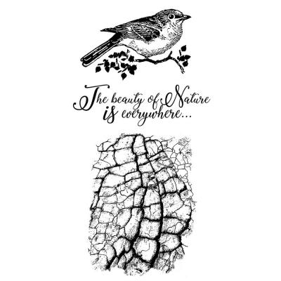 Stamperia Rubber Stamps - Cosmos Bird